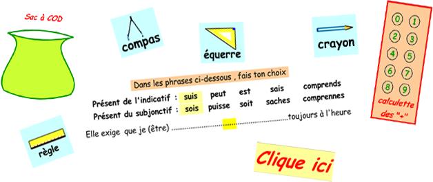 Ilustration des outils de CLIQUICI !